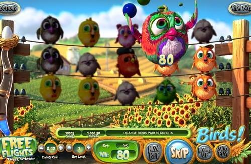 Призовая комбинация в игровом автомате Birds