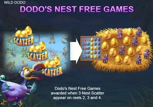 Правила фриспинов в игре Wild Dodo