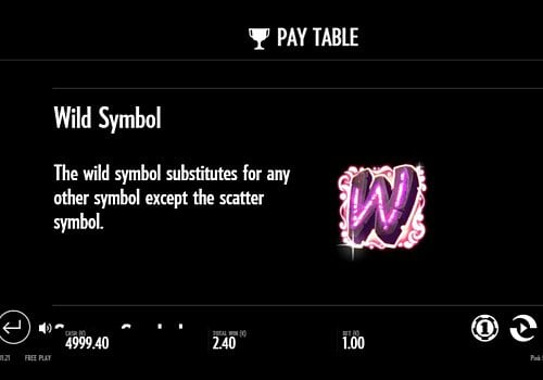 Wild в игровом аппарате Pink Elephants