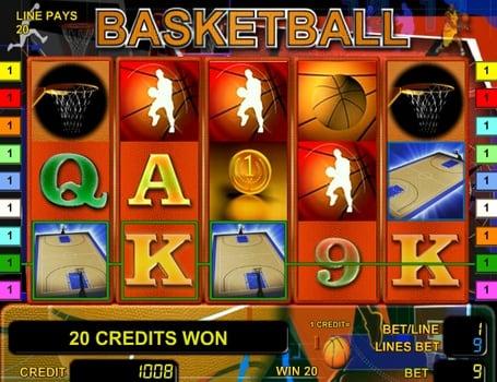 Призовая комбинация с Wild в игровом автомате Basketball