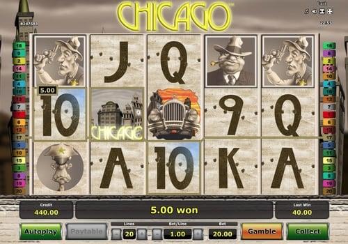 Призовая комбинация со знаком Wild в игровом автомате Chicago
