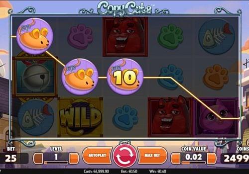 Призовая комбинация символов в игровом Copy Cats