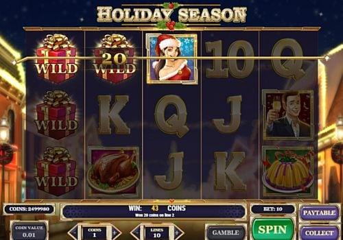 Призовая комбинация в игровом автомате Holiday Season