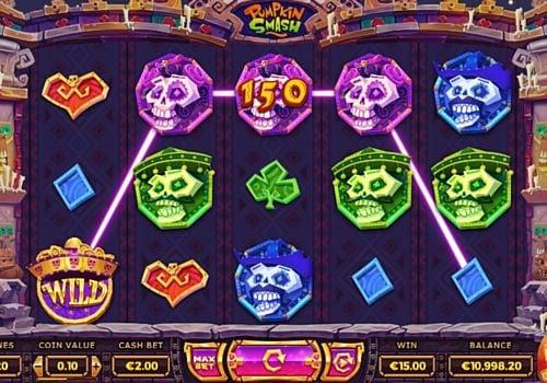 Призовая комбинация символов в игровом автомате Pumpkin Smash