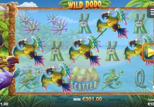 Призовая комбинация в игровом автомате Wild Dodo