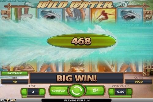 Крупный выигрыш в игровом автомате Wild Water