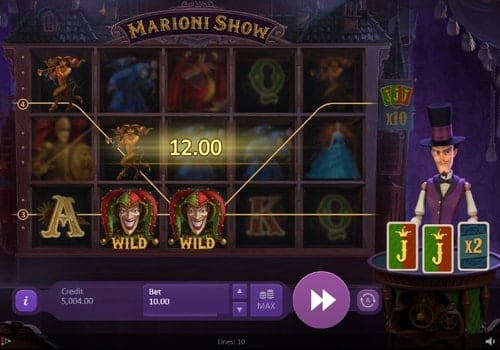 Дикие символы в игровом автомате Marioni Show