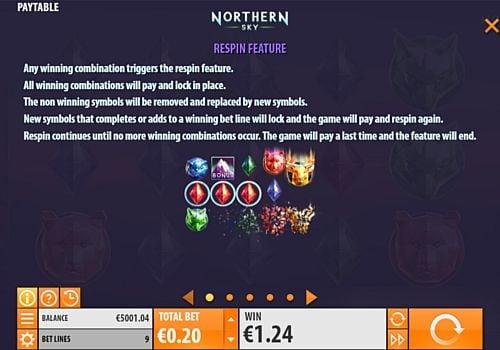Респины в онлайн аппарате Northern Sky