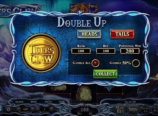 Риск игра в онлайн аппарате Tiger's Claw