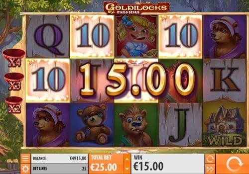 Выигрышная комбинация в онлайн автомате Goldilocks