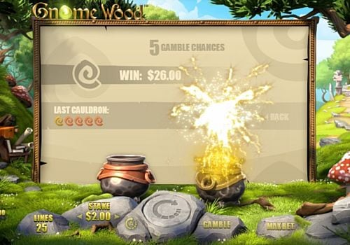 Риск игра в онлайн слоте Gnome Wood