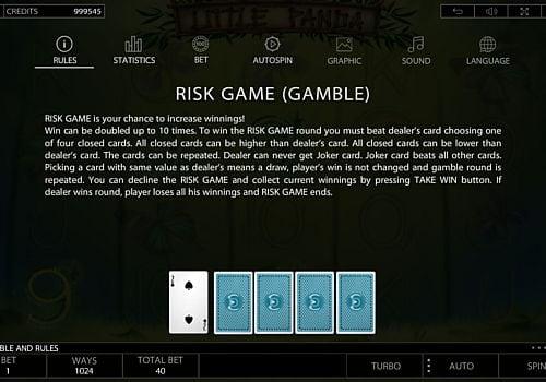 Риск-игра в слоте Little Panda