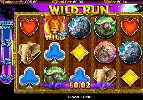 Выигрышная комбинация с диким символом в Wild Run